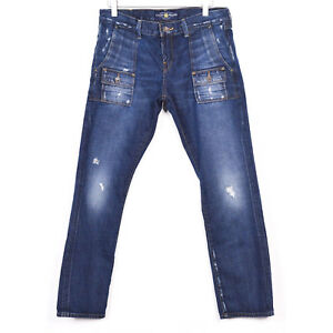 Lucky-Brand-Womens-Size-6-28-Blue-Jeans-Dark-Wash-Distressed-Denim
