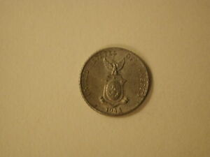 1944-1945D Phillippines 10 Centavos Extra Fine/AU  .750 fine silver