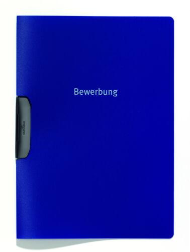 dunkelblau mit Clip Umschlägen 5x Durable DURASWING JOB Bewerbungsmappe