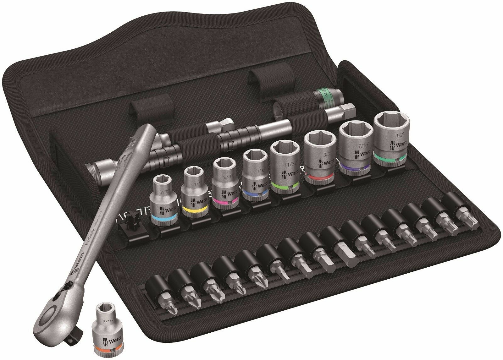 Wera 8100 SA 11 Zyklop Metal Switch Ratchet Set 1/4
