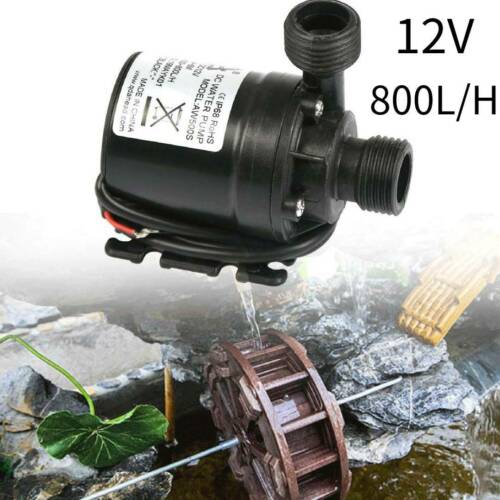 DC 12V Mini Wasser Pumpe 5M 800L//H Tauchpumpe Gartenpumpe für Aquarium Teich KO