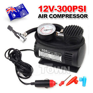 Portable 12V Air Compressor Pump Electric Bicycle Motorcycle Tyre Tire Inflator