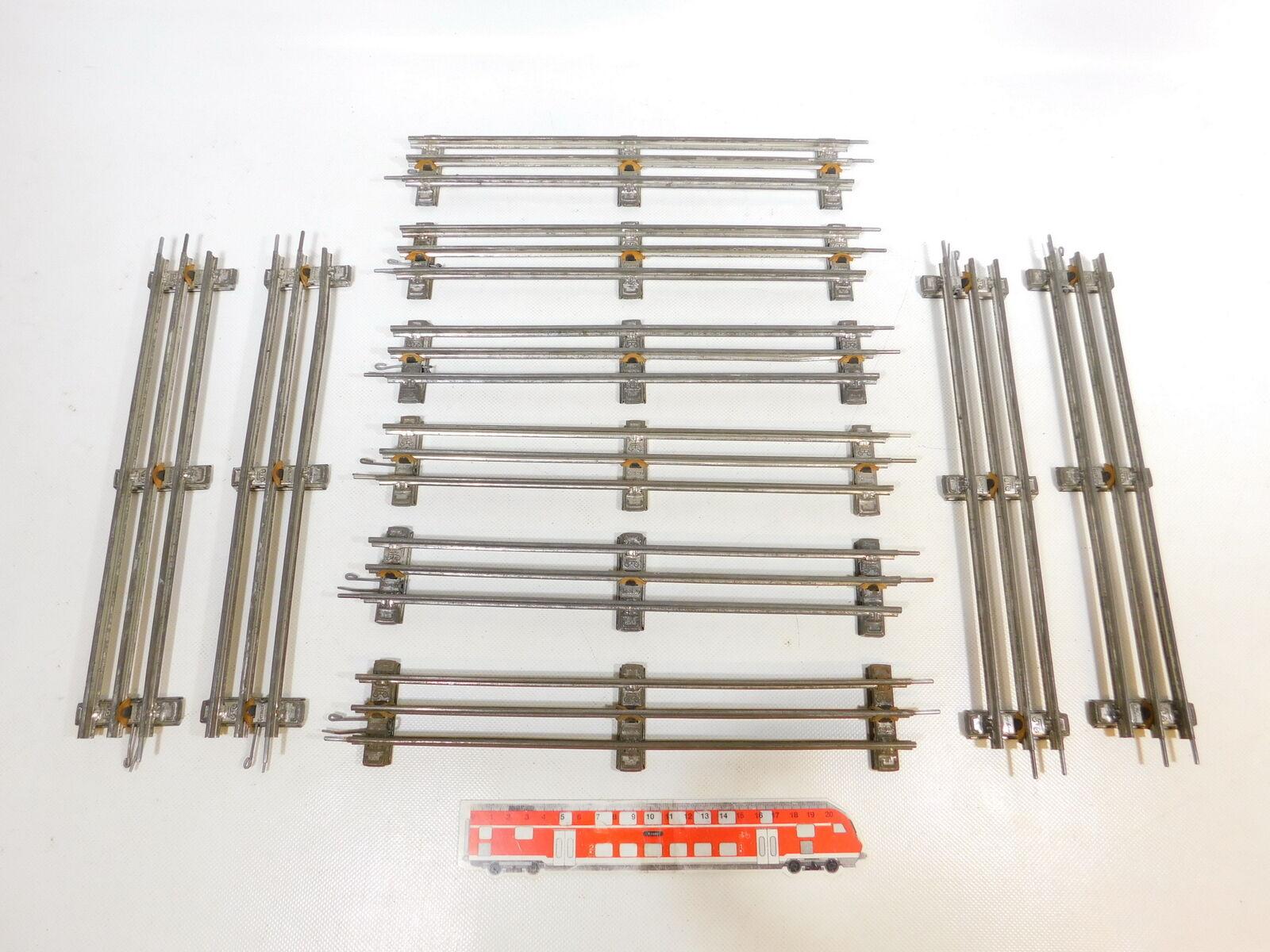 CD5582 10x marklin Scala 0 Binario Dritto 32 cm per Elettrica Operazione