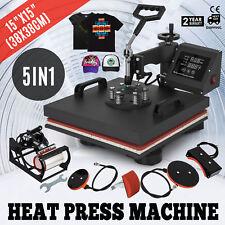 5IN1 38X38cm Presse à Chaleur Presse à Chaud VêTement Heat Press T-Shirt
