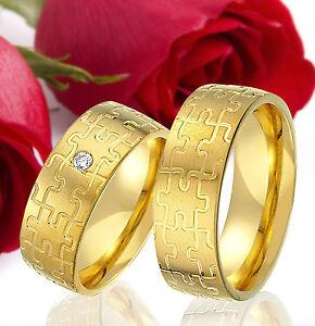 2-SILBER-Partner-Ringe-Trauringe-Eheringe-Gravur-Gratis-GOLD-Plattiert-T320
