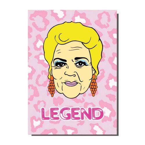 Pat Butcher Eastenders Earrings Greetings Card Birthday// Blank Inside