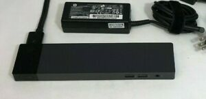 HP-Elite-ZBook-Thunderbolt-3-Docking-Station-HSTNN-CX01-w-65W-AC-Adapter-amp-Cable