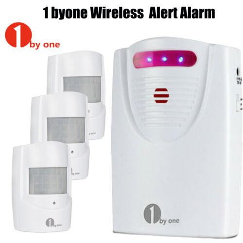 1byone Wireless Driveway Alert Chime Weatherproof PIR Motion Sensor Alarm System