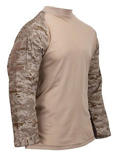 Tactico-Airsoft-Paintball-Combat-Camisa-Desierto-Digital-Camuflaje-Rothco-45020