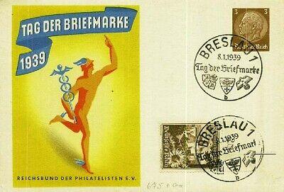 MüHsam Deutsches Reich Beleg, Sonderstempel, Tag Der Briefmarke. Details Und Erha -9317