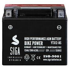 SIGA AGM Motorrad Batterie 12Ah 12V YTX12-BS 200A/EN Startkraft Motorradbatterie