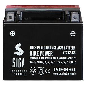 siga agm roller batterie 12ah 12v ytx12 bs 200a en. Black Bedroom Furniture Sets. Home Design Ideas