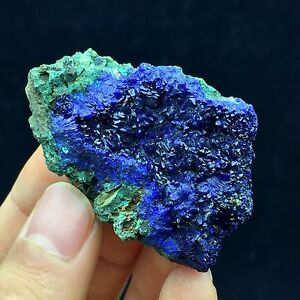Natural-Azurite-Malachite-stone-35g-shining-blue-azurite-mineral-crystals