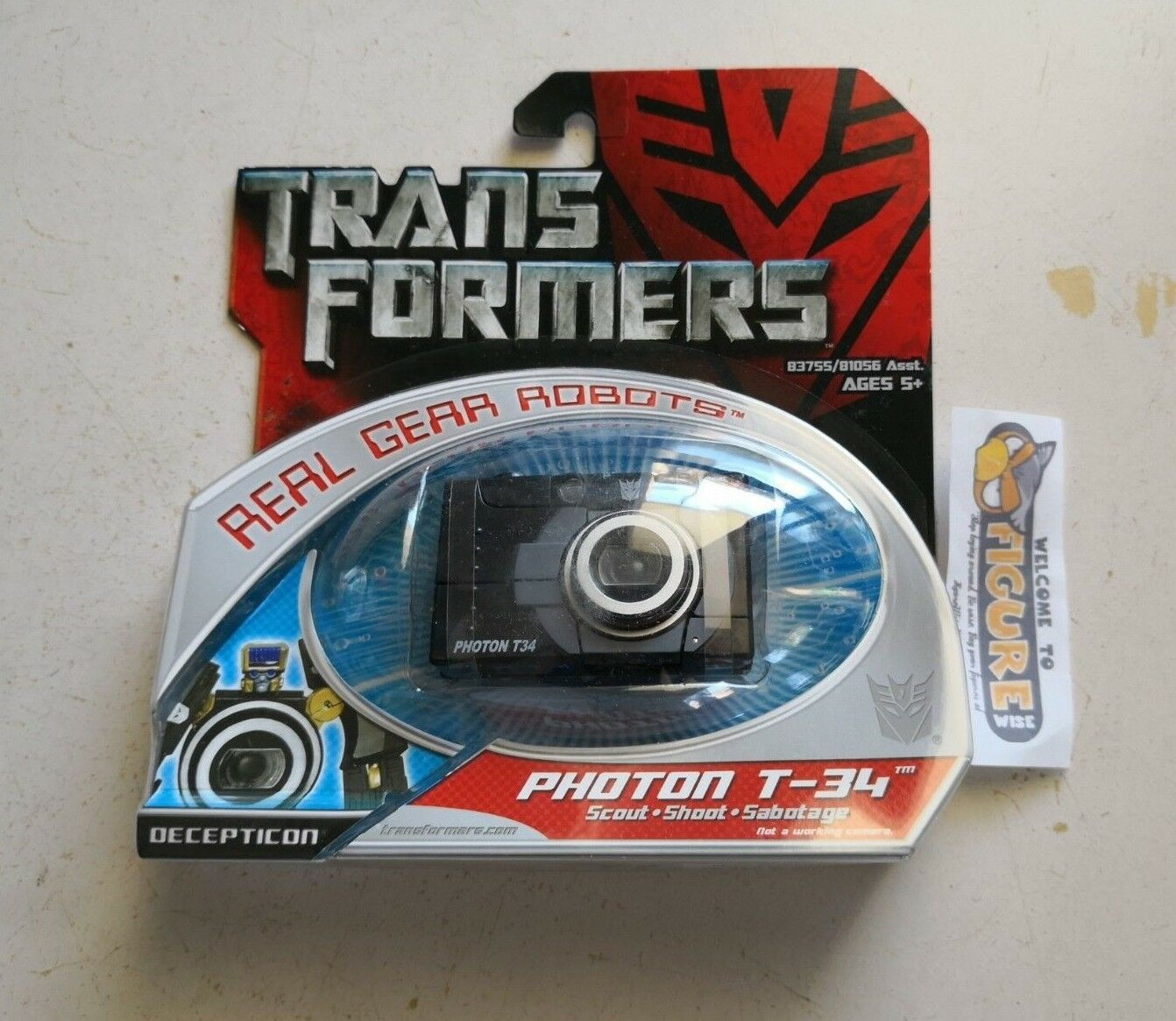 TransFormers Movie, Real Gear Robots Decepticon PHOTON T-34 action figure