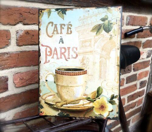 Pour Café /& bistro tôle bouclier Imprimé rétro décoration EMAILLE Panneaux de signalisation