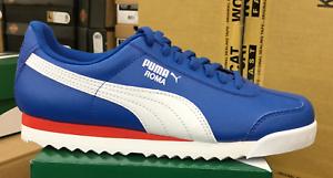 0c1ab8cd9598a8 PUMA Roma Basic Jr GS Kid s Running Casual Shoes Blue White 354259 ...