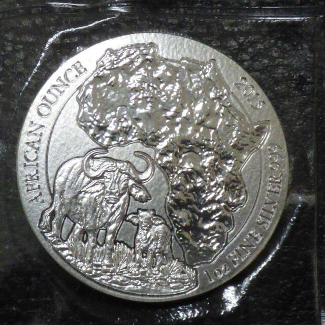 Rwanda 50 Amafaranga 2015 Buffle 1 oz silver 99.9%