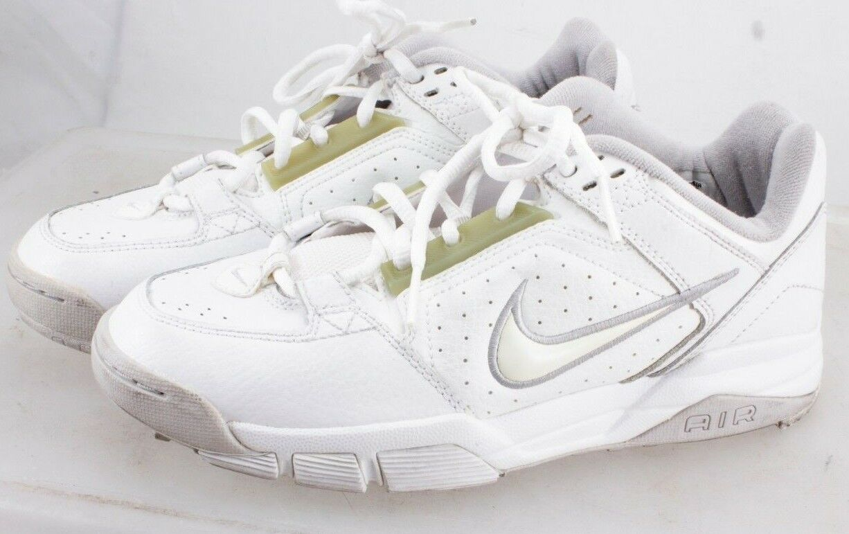 Nike Men's 307578 Shoes White Leather Upper US 7.5