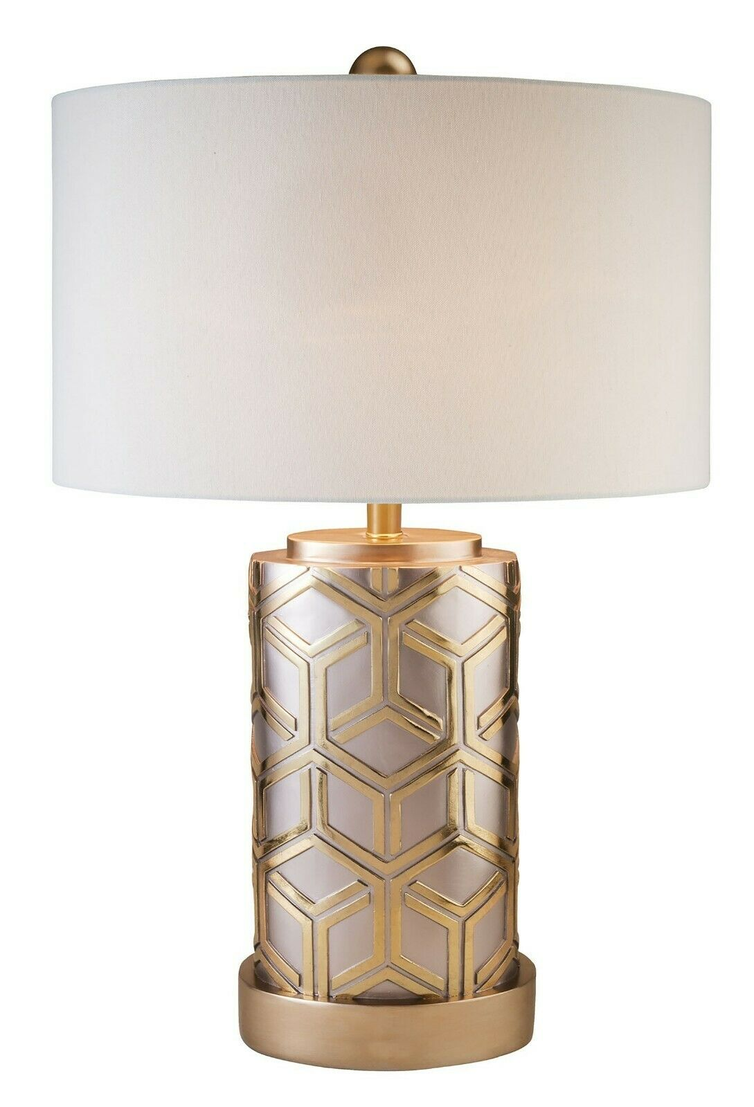 Gold Geometric Lines Table Lamp Bedroom Home Decor
