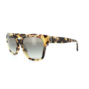 249afa606eb Image is loading Prada-Sunglasses-11SS-7S00A7-Blonde-Havana-Grey-Gradient
