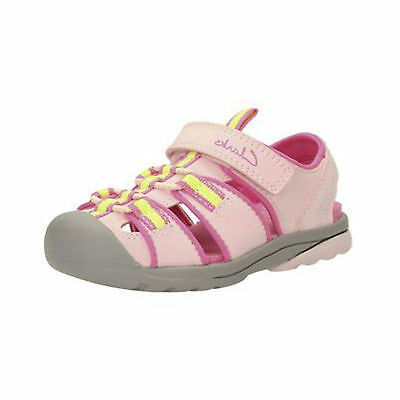 Girls Clarks Beach Tide Pink Water Friendly Machine Washable Closed Toe Sandals