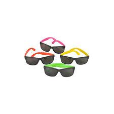 Assorted Plastic Neon Sunglasses (12 Pack) Party Novelty Sunglasses 1 Dozen