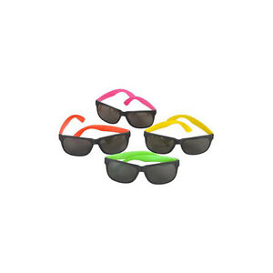 6418709901669 Image is loading Assorted-Plastic-Neon-Sunglasses-12-Pack-Party-Novelty-