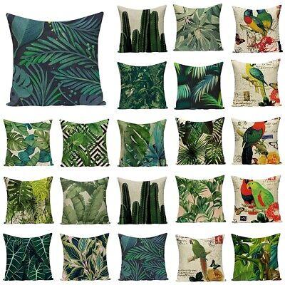 Blumen Vogel Kissenbezug Kissenbezüge Kissenhülle Kissen Hülle Sofa Home Dekor
