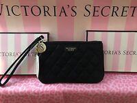 Victoria's Secret Black Wristlet Wallet Purse Coin Zipper Bag