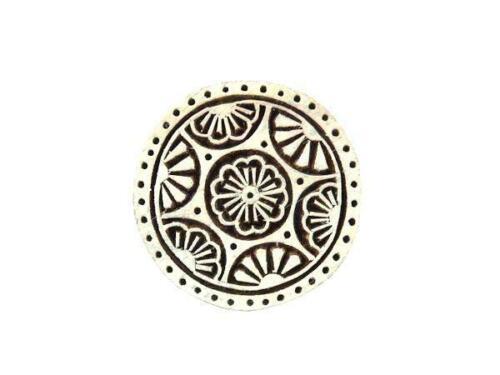 1966 Indischer Holzdruckstempel Mandala Motivstempel Ornament Nr