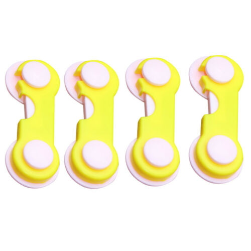 4PCS Child Security Kids Box Drawer Cupboard Wardrobe Door Fridge Safety Lock a1