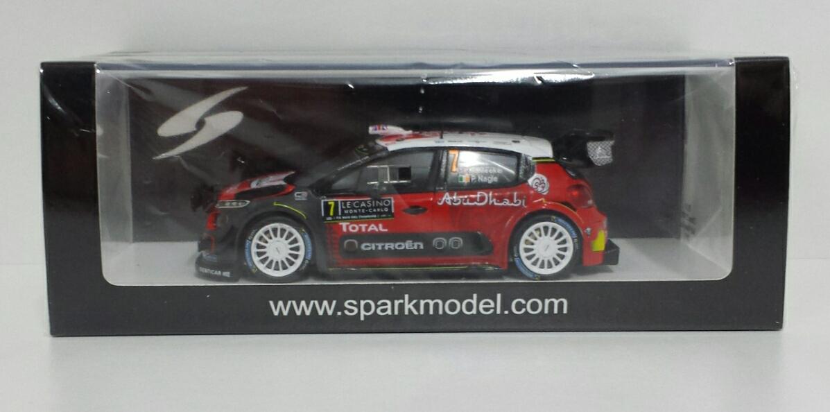 SPARK 1 43 MODELLINO CITROEN C3 WRC RALLY MONTE CARLO 2017 MEEKE NAGLE S5155 NEW
