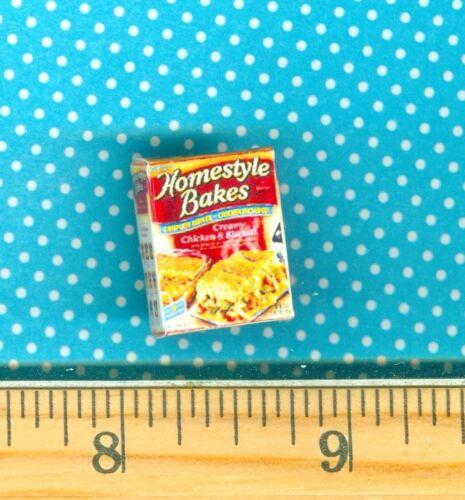 Dollhouse Miniatures Size Dinner Bakes  Box