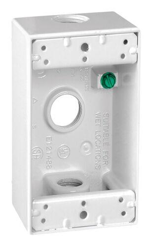 Rectangle Métallique 1 Gang Weatherproof Box Blanc Sigma électrique 4-1//2 en