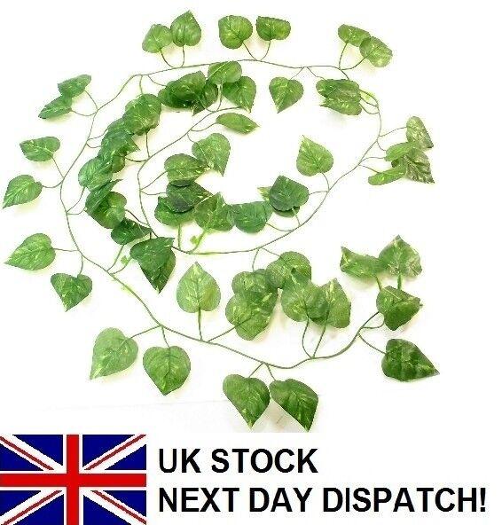 6ft Pothos artificiale Foglia Edera Garland finali verde foglia di felce pianta a foglie