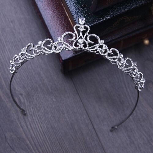 3cm High Elegant Simply Crystal Adult Tiara Crown Wedding Prom Party