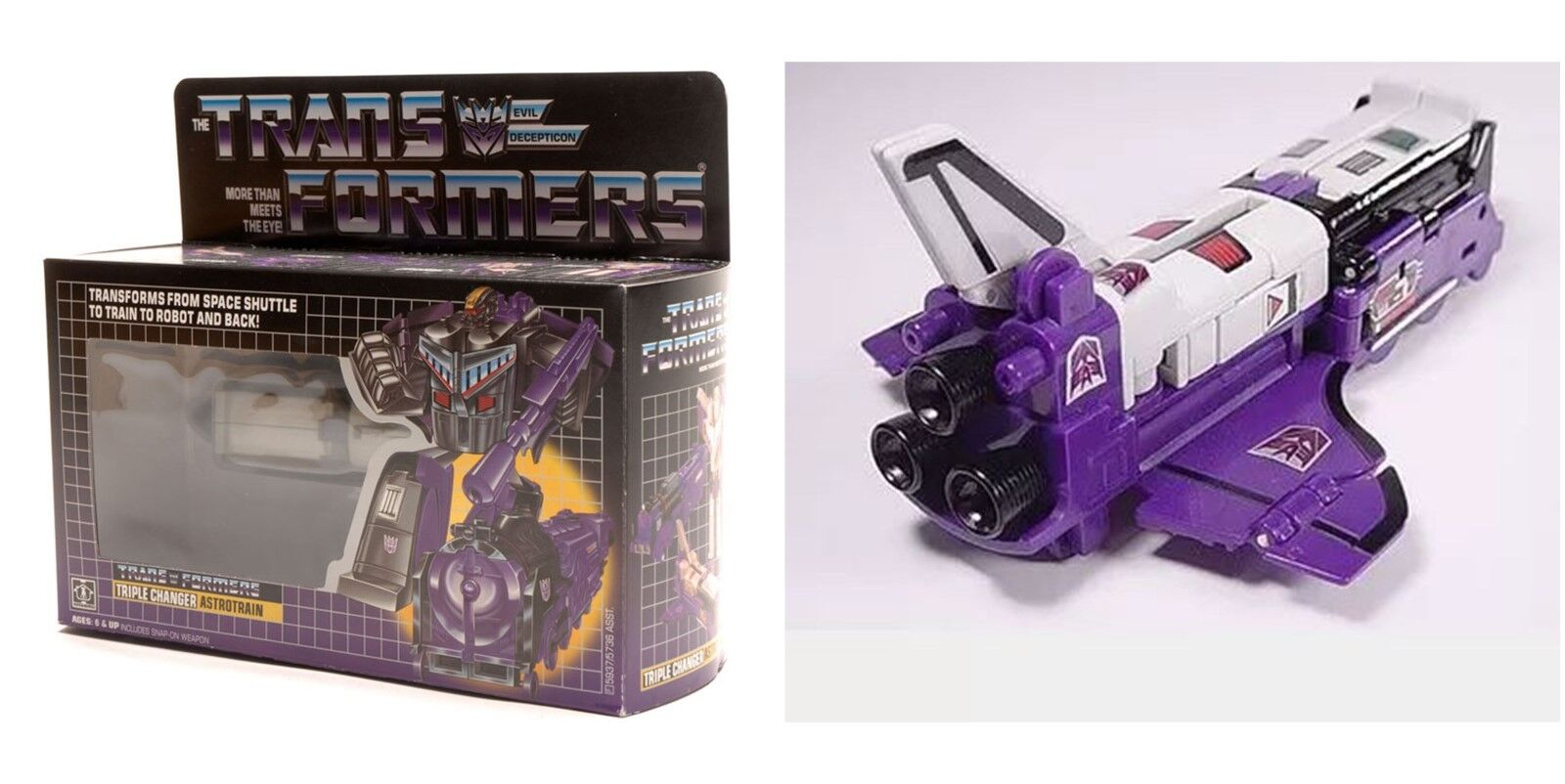 TRIPLE CHANGER ASTredRAIN Reissue TRANSFORMERS ACTION Christmas Gift