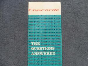British-Aerospace-Concorde-Promotional-Booklet-1974-The-Questions-Answered-Rare