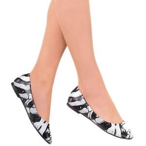 Details zu Banned Gothic Punk Okkult Ballerinas Schuhe Flats Ribcage Skelett Knochen