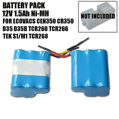 Battery pack for Ecovacs Deebot 12V 1.5Ah Ni-Mh CEN350 D35 D35B vacuum cleaner