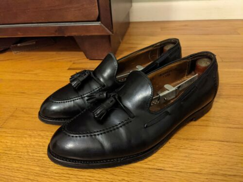 Alden Black Shell Cordovan Tassel Loafer 10E Wide