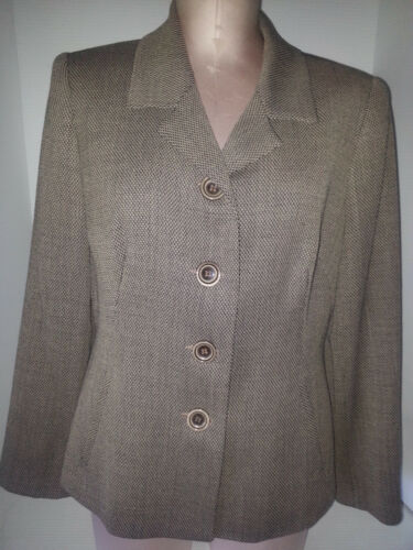 Donna Suit Front Nero Bianco Jacket 12 Blazer Taglia Nicci Coat Remato Button E0xqtUAvwT