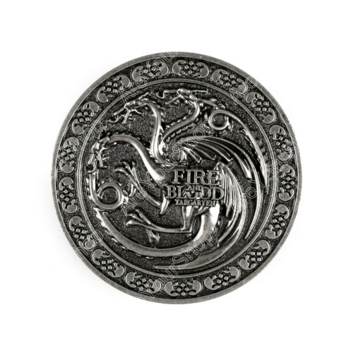 Game of Thrones House Targaryen Fire and Blood Metall Gürtelschnalle BS7