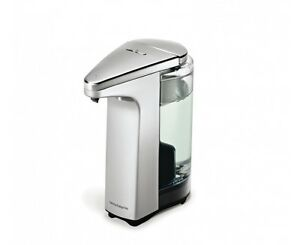 Simplehuman touchless sensor soap pump brushed nickel 8 fl oz ebay - Brushed nickel soap dispenser pump ...