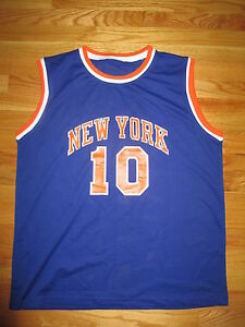 Details about Madison Square Garden WALT FRAZIER No. 10 NEW YORK KNICKS (Size 56) Jersey