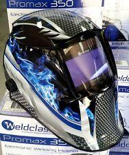 Auto Welding Helmet - Weldclass Promax 350 Graphic inc Grind Mode MIG, TIG & ARC