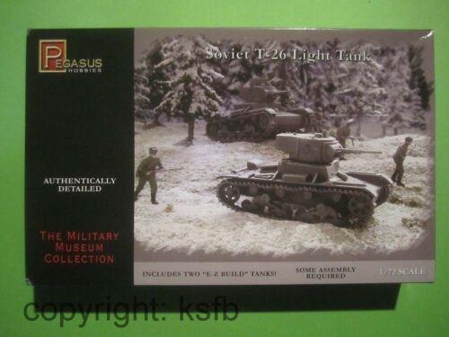 1:72 Pegasus 7671 WKII Rußland 2x leichter T-26 Panzer Bausatz easy kit Tank