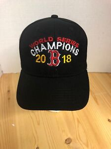 watch 36be5 e1748 Details about Boston Red Sox World Series Champions 2018 Baseball Hat Black