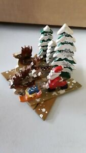 Vtg-Japan-Expansion-Expanding-Wood-Santa-Reindeer-Forest-Scene