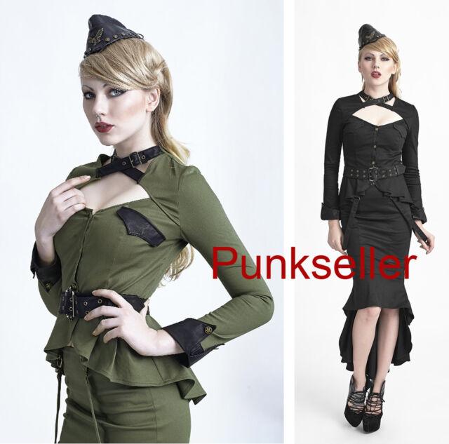 Punk Rave Uniform shirt Top Blouse,Long sleeve,military style,cosplay,visual kei